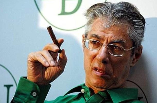 Umberto Bossi, ministre des Réformes pour le Fédéralisme sous le dernier gouvernement Berlusconi. Fondateur et ancien dirigeant de la Ligue du Nord.
