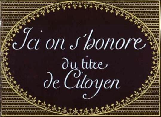 Écriteau affiché durant la Révolution française.