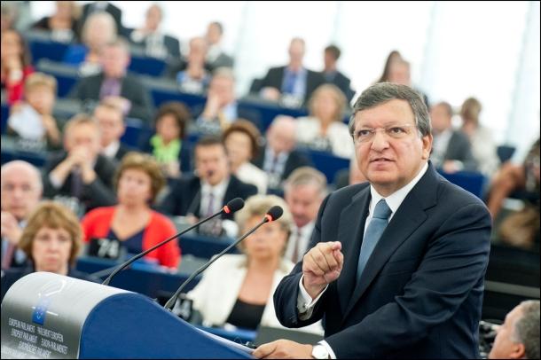 """Jose Manuel Barroso prononce son dernier discours sur l'état de l'Union, mercredi 11 septembre, à Strasbourg."""" © European Union 2013 - European Parliament"""""""
