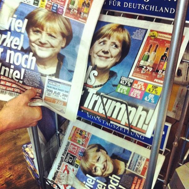 A la Une de la presse, lundi 23 septembre 2013. © Raisin Detre / Flickr