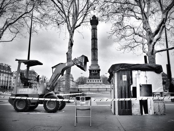 Manifestation contre les expulsions forcées de Roms. Paris, 6 avril 2013. © Erwan Deverre / Flickr