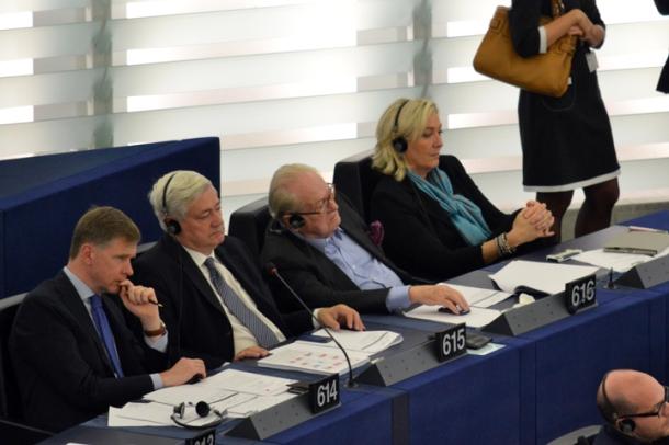 Dans l'hémicycle de Strasbourg, en octobre 2013 (Photo EW).