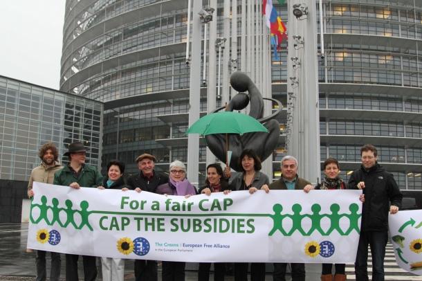 Retour sur trois années de négociations entre les partenaires européens... ponctuées par des manifestations, comme ici devant le Parlement européen de Strasbourg en mars 2012. © Greens/EFA/Flickr