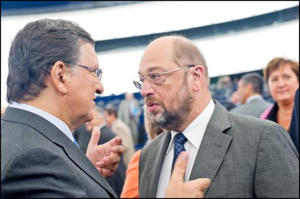 José Manuel Barroso et Martin Schulz au Parlement européen. © European Parliament/Flickr