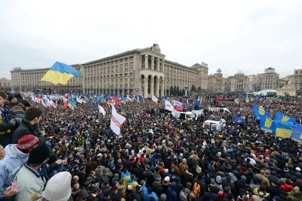 Rassemblement à Kiev, dimanche 1er décembre 2013. © Ivan Bandura / Flickr
