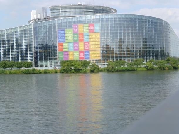 Le siège du Parlement européen à Strasbourg (photo de PAK)